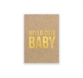 kaart hello cute baby