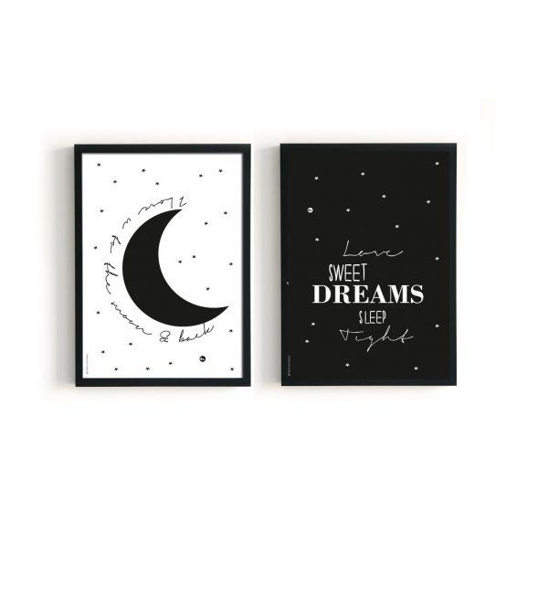 poster moon sleep tight