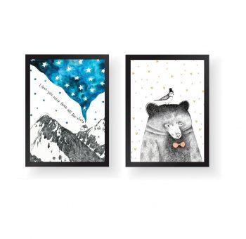 poster mountain bear